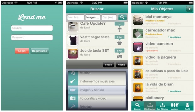 Screenshots Lend Me App