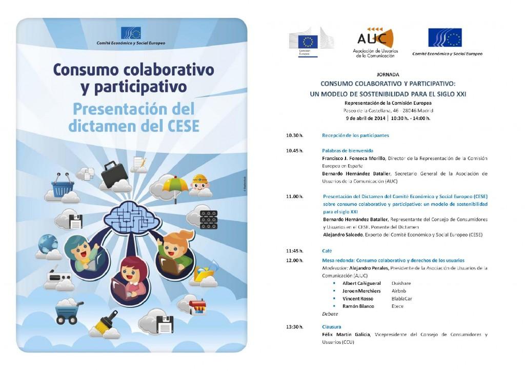 Programa Jornada Consumo Colaborativo MADRID