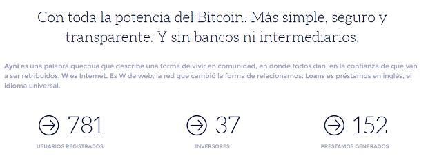 stats bitcoins Wayniloans: préstamos entre particulares ahora también con Bitcoins!
