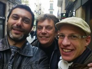 Albert Cañigueral, Javi Creus y Boyd Cohen en Barcelona