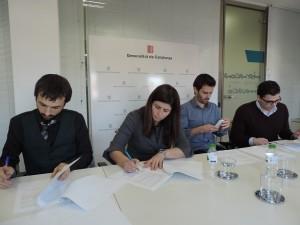 Firma del acuerdo de la Generalitat con las plataformas de CrowdEquity