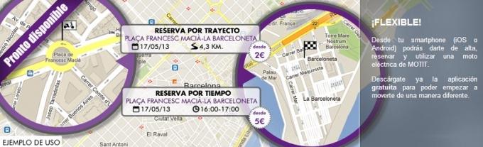 Motit: sistema flexible de alquiler de motos eléctricas en Barcelona