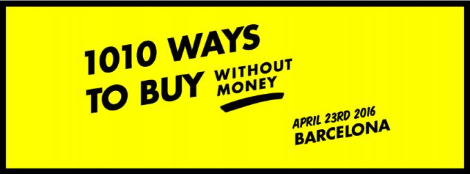 Por #SantJordi #1010ways to buy without money vuelve