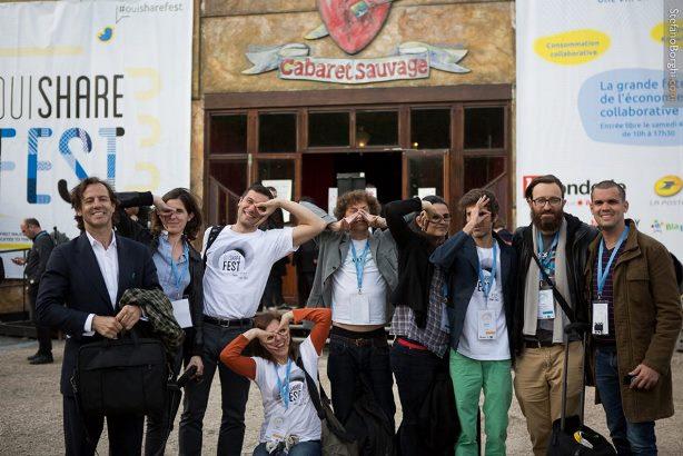 Parte de la representación española en OuiShareFest