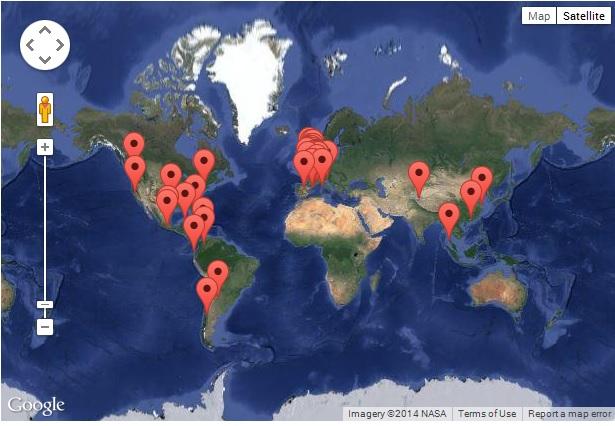 Mapa de alojamientos en Trampolinn