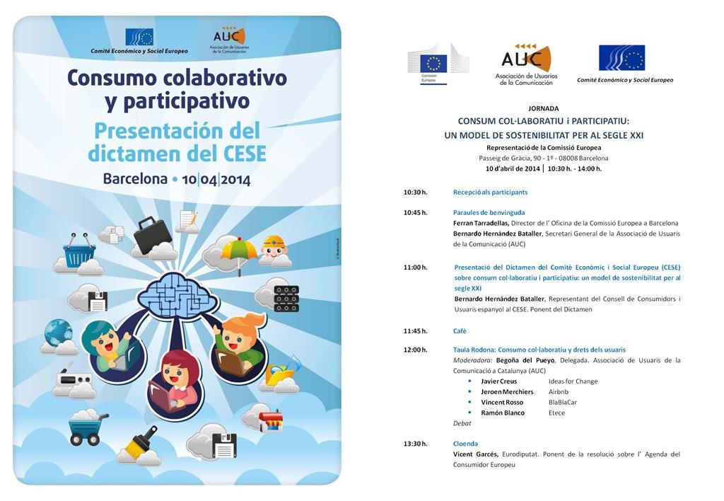BARCELONA Programa Jornada Consumo Colaborativo