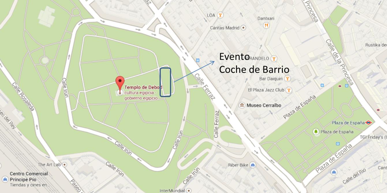 Localizazcion evento Coche de Barrio
