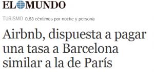 Paris y Barcelona - Tasa turisitica