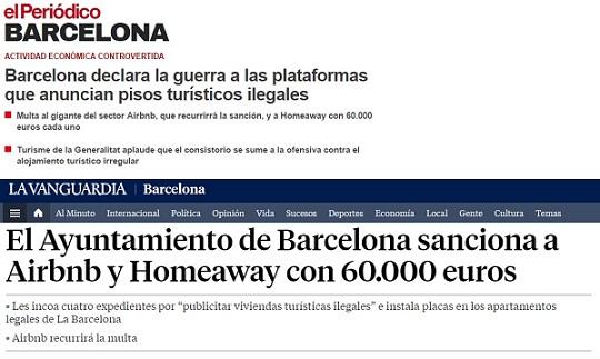 Menciones en La Vanguardia y El Periódico de Catalunya