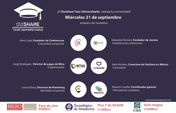 Tour Universidades OuiShare México